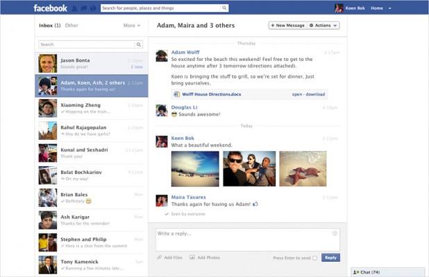 facebook novo visual mensagens 618x400 Visual do sistema de mensagens do Facebook vai ser atualizado
