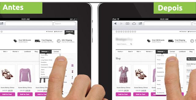 imagem ipad antes depois menu padding 3 dicas para você saber como otimizar o seu site para os tablets