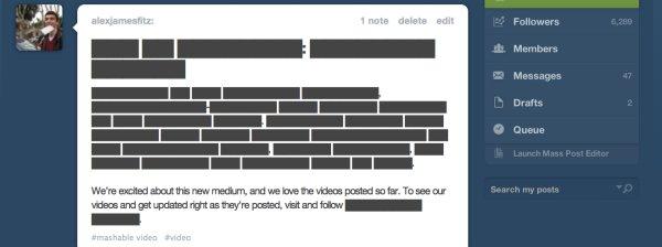 Protesto do Tumblr ao SOPA