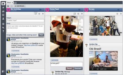 Exemplo do Orkut funcionando no Hootsuite