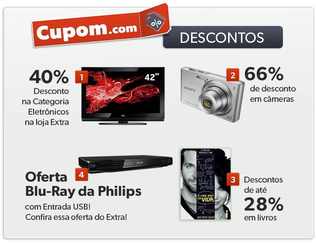Algumas das ofertas do Cupom.com