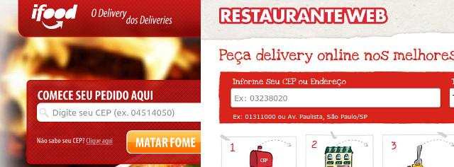 Serviços como o iFood e RestauranteWeb ajudam empresas a oferecer delivery online