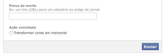 Quer apenas deletar ou transformar em um memorial?