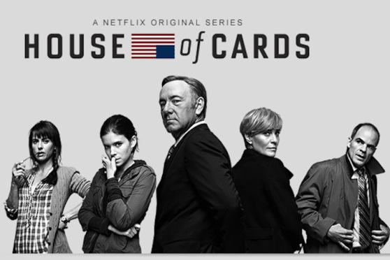 "Cartaz de ""House of Cards"", seriado original do Netflix"