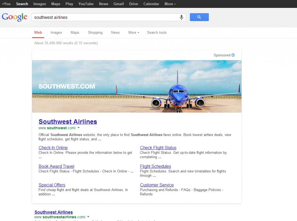 southwest-airlines-display-google-search-ads-anuncios