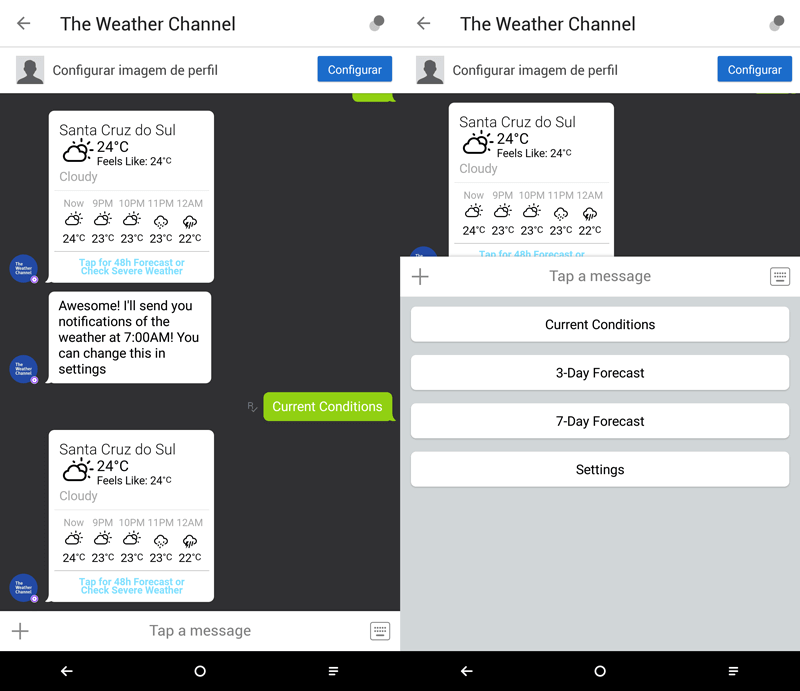 interacao-weather-channel-kik-messenger-bot