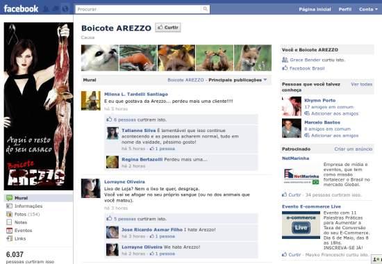 arezzo-fanpage-boicote