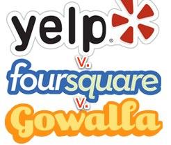 Gowalla vs Foursquare vs Yelp