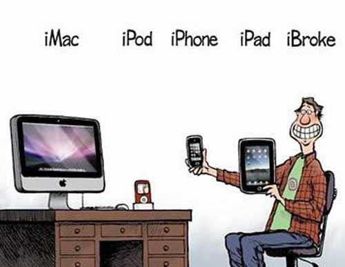 iMac, iPod, iPhone, iPad e depois? iBroke!
