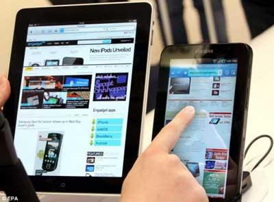 Ipad e Galaxy Tab, os dois principais tablets do mercado atual