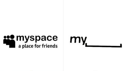 Logo novo e antigo do MySpace