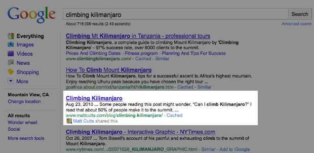 Novo modelo da integração social do Google (Imagem via Mashable)