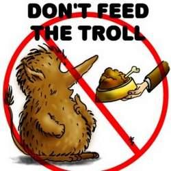 """""""Não alimente o troll"""""""