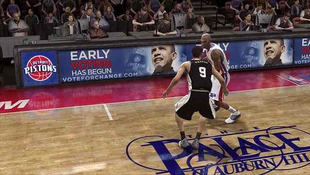 Anúncio de Obama no game da NBA
