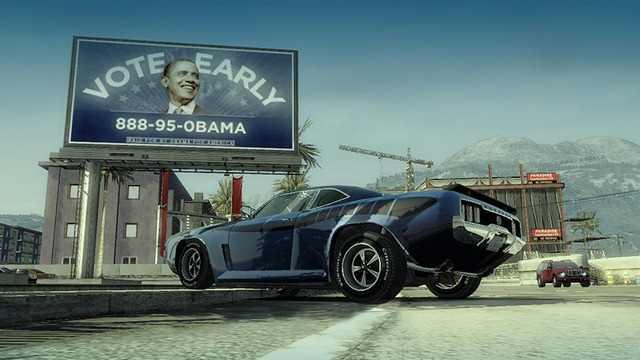 Propaganda do Obama nos jogos.