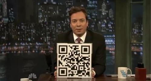 Exemplo de uso do Qr Code na televisão.