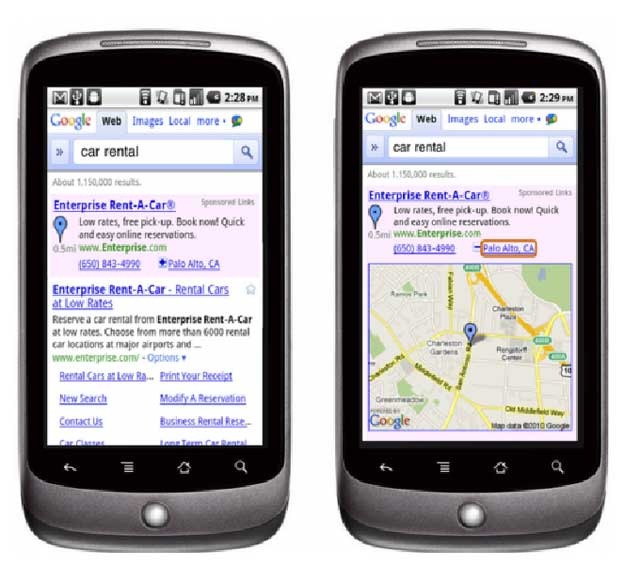 Smartphone com Geolocalização