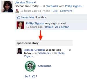 Checkin no Facebook com patrocínio a partir do 'sponsored stories'